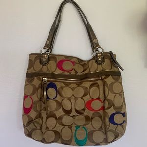 Coach large tote purse